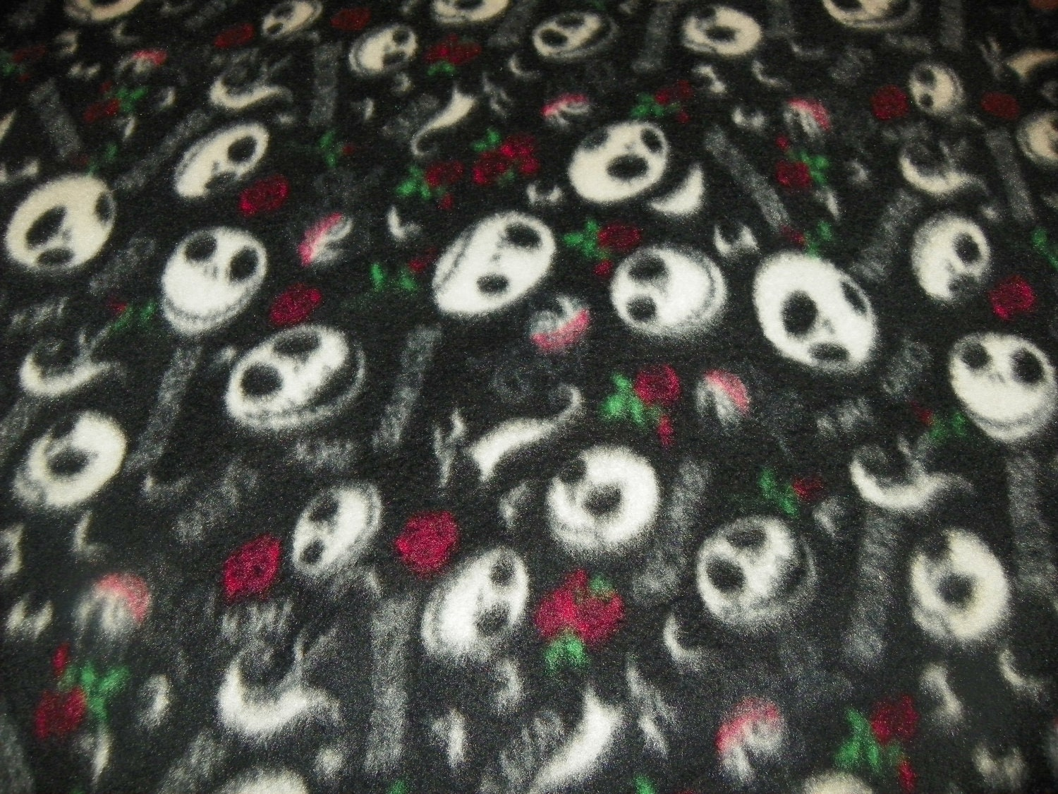 nightmare before christmas fleece fabric by the yard the. Black Bedroom Furniture Sets. Home Design Ideas