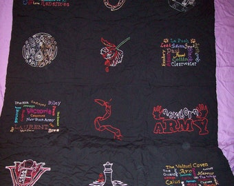 Inspired Twilight Saga, CUSTOM, Lap Quilt