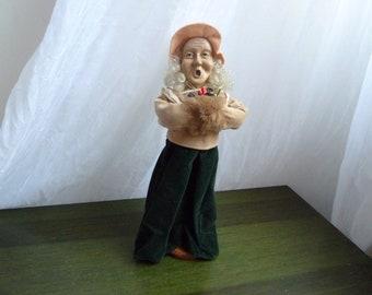 Vintage christmas carolier figure doll