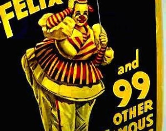 Ringling Brothers Barnham Baily Circus Felix the Clown Poster Print