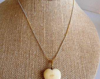 Vintage Heart Necklace 14ct gold and silver