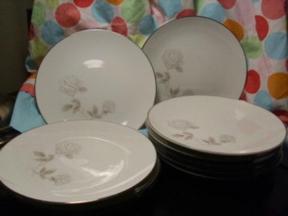 Vintage Noritake China/ Rosay/ Bread/ Cookie Plates/ 10