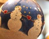 Share the Love 4 inch diameter hand painted Glass Ornament