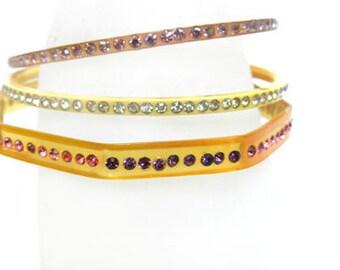 Vintage Flapper Celluloid 1920's Bangle Bracelets