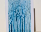 The Blue Forest - Individual blank card- digital print