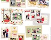 PSD Christmas Photo card template - Chic Greetings - E621