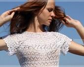 Crochet blouse   MADE TO ORDER , custom made, handmade, crochet