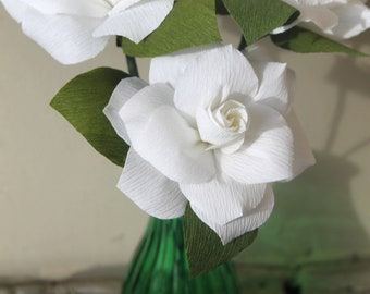 Paper flowers -paper gardenia for table decorations,wedding bouquet.