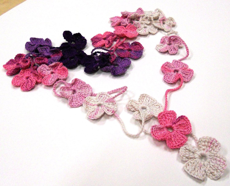 Crochet Flower Shirt Pattern : PDF Crochet Pattern Crochet Flower Scarf PDF Pattern