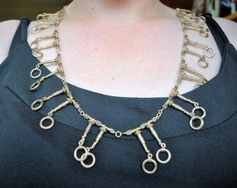 Egyptian Gold Collar Beaded Necklace (One-of-a-Kind)