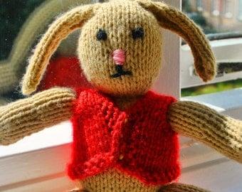 Dapper Rabbit Knitted Stuffed Animal