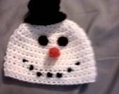 Hand crochet Little snowman costume/photo prop