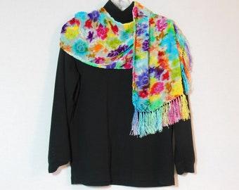 Scarf, Silk cut velvet scarf, OOAK