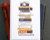 Books & camera greetings card