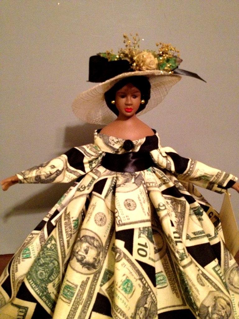 African American Porcelain Doll Scripture Doll Black Doll