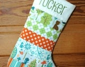 Boys Woodland Personalized Christmas Stocking - Girls Version Also Available