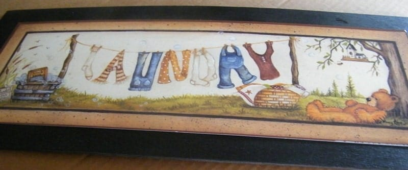 Retro Country Primitive Vintage LAUNDRY Room Sign by carolalden