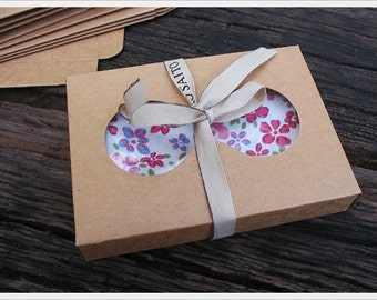 Kraft box / gift box / set of 10 pcs. / for small package/ with Window to display