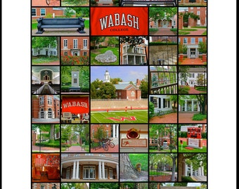 Wabash College 16 x 20 signed Photo Print Poster (Also available in B&W and Sepia)