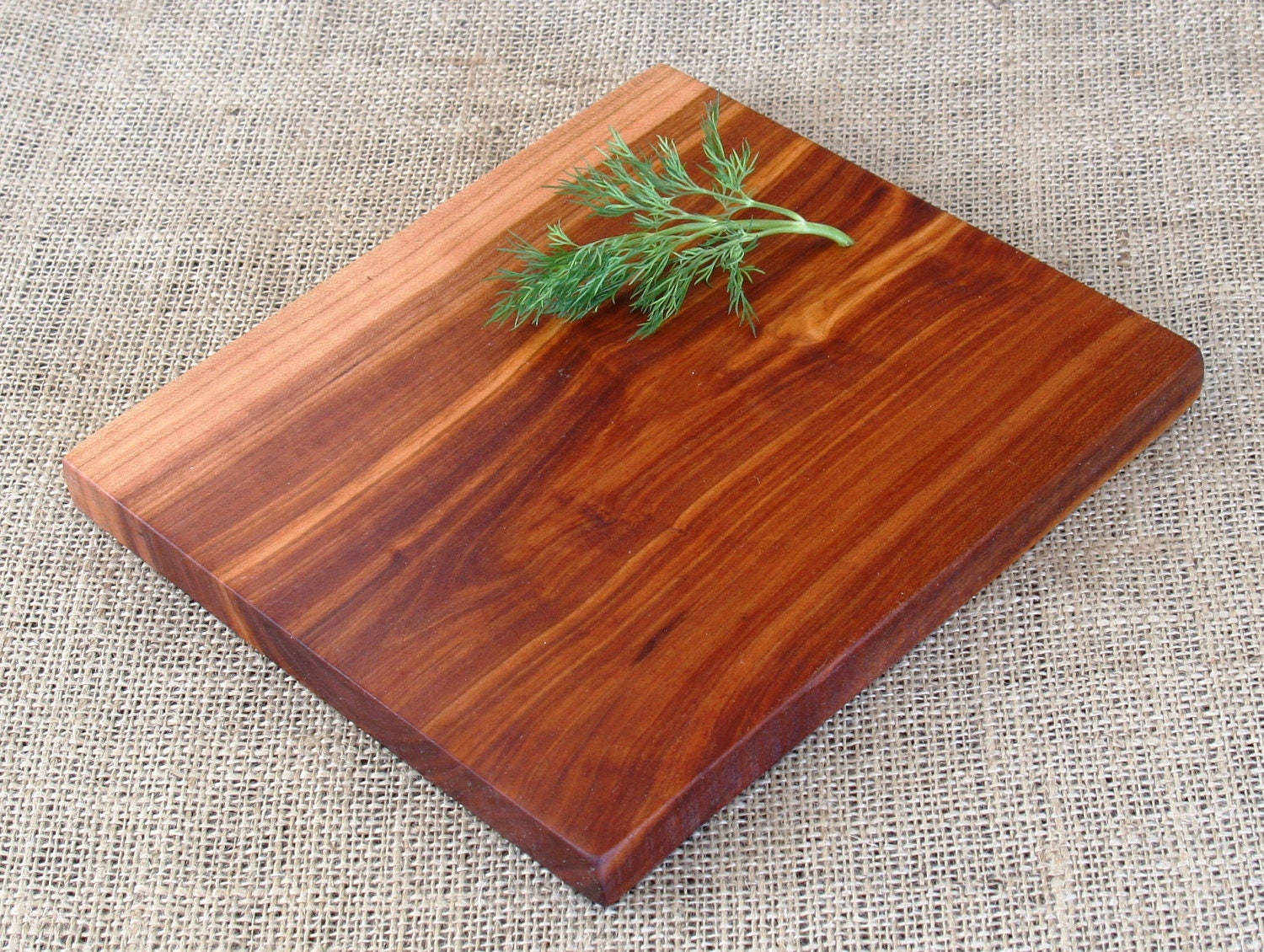 Wood slab cutting board