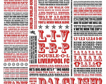 A4 LFC 'Shall we sing a song for you' digital print