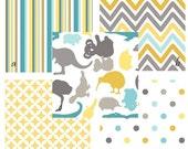 Custom 2 piece Baby Bedding Crib Set--Crib Skirt and Sheet (Down Under)