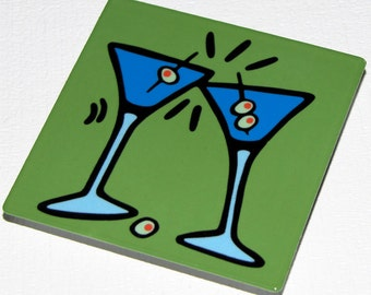 Martini Metal Magnet