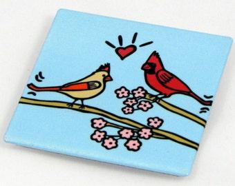 Cardinals Metal Magnet