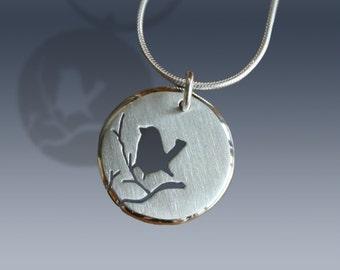 Bird Pendant, Silver Jewelry, Silver Jewellery, Silver Pendant, Bird Jewelry.