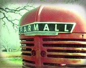 Farmall Tractor Grill Photo, Vintage Tractor Print, Red Tractor Print, Farm Equipment, Photo for Him