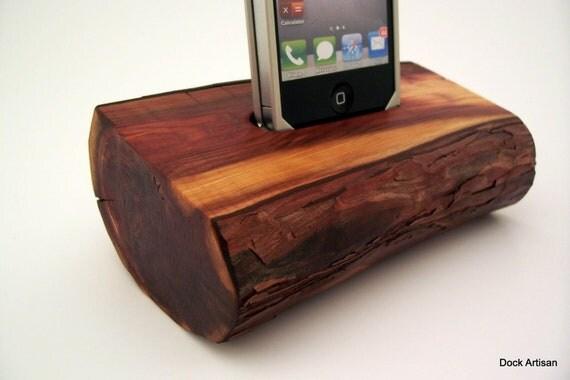 Natural Wood iPhone 4 Dock  - ICN 450