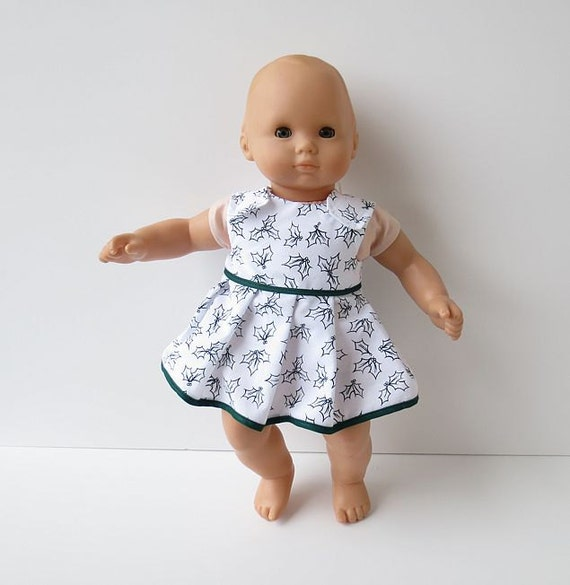 Baby Alive Clothes 14 to 16 Inch Doll Dress in Mistletoe
