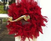 Handmade Burlap Doorknob Wreath or Candle Ring