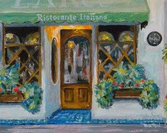 Kitchen Decor - Ristorante Italiano - original acrylic painting