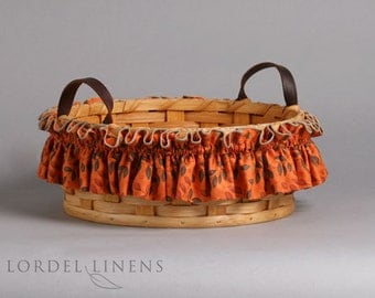 Leaves on Orange Basket Garter