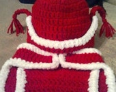 Crochet Santa Claus Hat and Diaper Cover