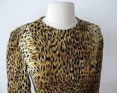 Vintage Norma Kamali Leopard Print Nylon Top-Size S