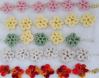 Flower Crochet lace bracelets