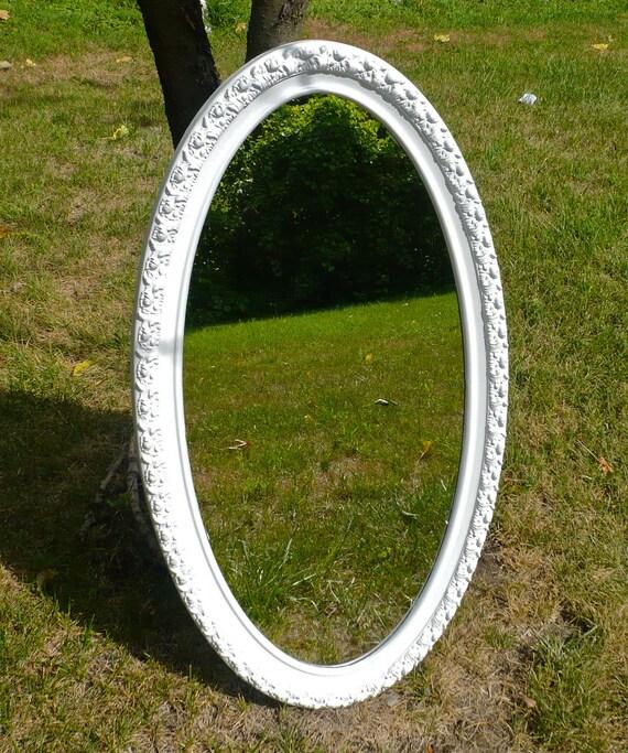 Ornate Frame Vintage Oval Mirror Shabby Chic Vintage Mirror REDUCED
