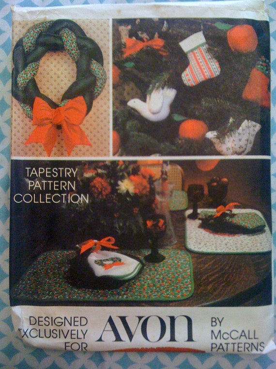 McCalls Pattern 5380 Cristmas Crafts Designed Exclusively For AVON