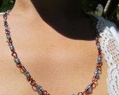 blue marine necklace
