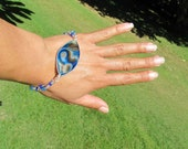blue wire wrapped bracelet