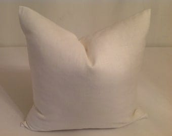 Linen  Pillows Decorative Throw   Pillows-  Ivory Pillow  covers  On both Sides