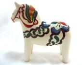 Swedish Ceramic Dala Horse Made in Brazil for Scandia