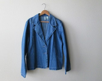1980s Bill Blass Blue Jean Jacket