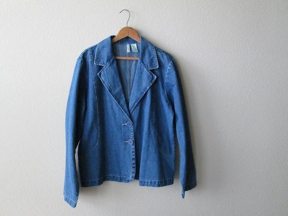 1980s Bill Blass Blue Jean Jacket