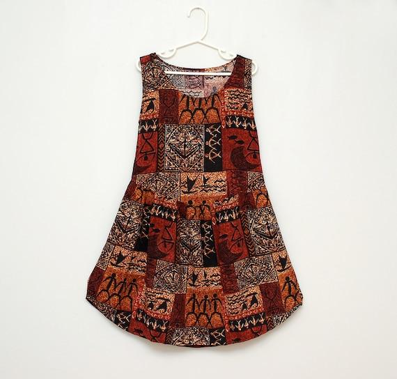 Handmade tribal-print girl's dress