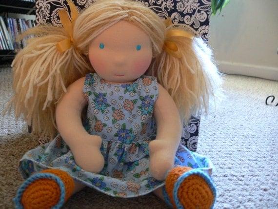 "New Handmade Waldorf doll ""16 in tall"