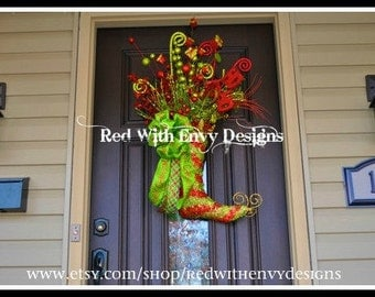 Whimsical Christmas Wreath, Christmas Wreath, Wreath, Holiday Wreath