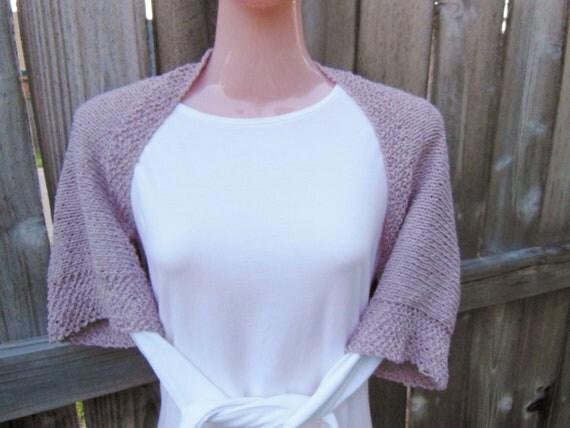 Knit Shrug. Bolero. Sweater. Shoulder Wrap in Gentle Rose